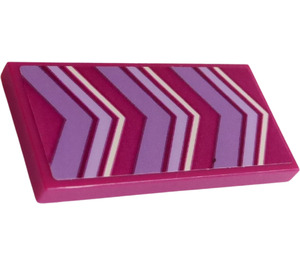 LEGO Tile 2 x 4 with  Lavender and White Chevrons Sticker (38879)