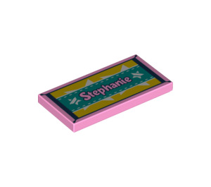 "LEGO Tile 2 x 4 with ""Stephanie"" and Stars on Carpet (38879 / 55598)"