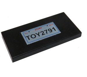 LEGO Tile 2 x 4 with 'TOY2791' License Plate (87079 / 91840)