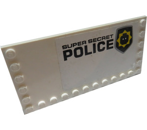 LEGO Tile 6 x 12 with Edge Studs with Head Badge and 'Super Secret Police' Pattern Model Right Sticker (6178)