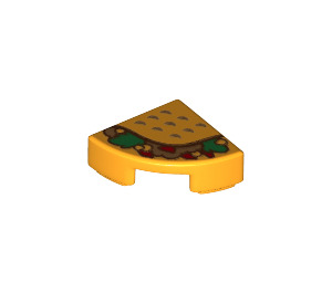 LEGO Tile Quarter Circle 1 x 1 with Taco (25269 / 36920)