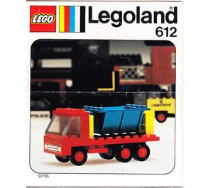 LEGO Tipper Truck Set 612 Instructions