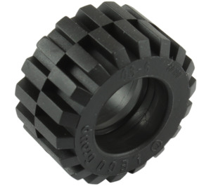 LEGO Tire 21mm D. x 12mm - Offset Tread Small Wide with Bevelled Tread Edge (60700)