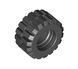 LEGO Tire 21mm D. x 12mm - Offset Tread Small Wide with Slightly Bevelled Edge and no Band (6015 / 60700)