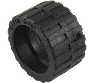 LEGO Tire 24 x 14 Shallow Tread (Tread Small Hub) with Band around Center of Tread (24341 / 89201)