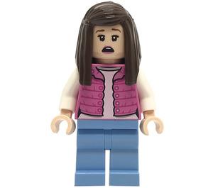 LEGO Tourist Woman in Dark Pink Vest Minifigure