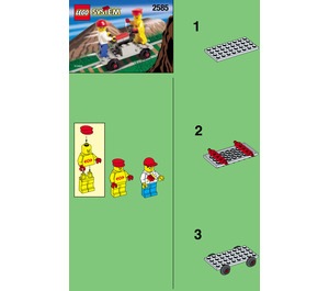LEGO Track Buggy with Station Master and Brickster Set 2585 Instructions