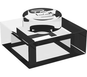LEGO Translucent White Plate 1 x 1