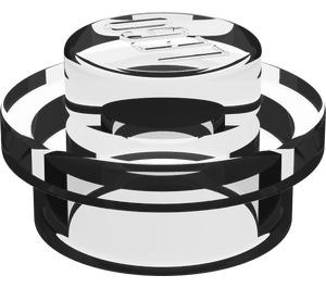 LEGO Translucent White Round Plate 1 x 1