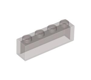 LEGO Transparent Black Brick 1 x 4 without Bottom Tubes (3066 / 35256)
