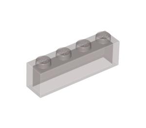 LEGO Transparent Black Brick 1 x 4 without Stud Bars (3066 / 35256)