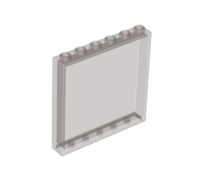 LEGO Transparent Black Panel 1 x 6 x 5 (35286)