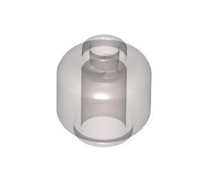 LEGO Transparent Black Plain Head (Safety Stud) (28621)