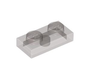 LEGO Transparent Black Plate 1 x 2 (6225 / 28653)