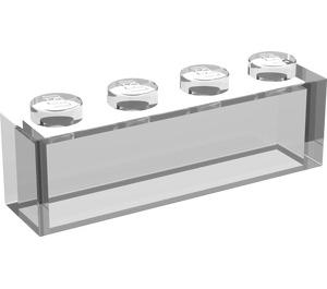 LEGO Transparent Brick 1 x 4 without Stud Bars (3066)