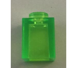 LEGO Transparent Bright Green Brick 1 x 1