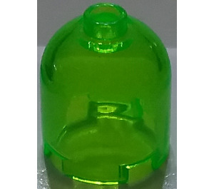 LEGO Transparent Bright Green Cylinder 2 x 2 x 1.66 with Dome Top and Recessed Solid Stud