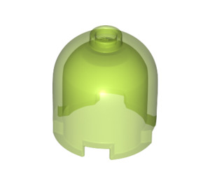 LEGO Transparent Bright Green Cylinder 2 x 2 x 1.66 with Dome Top and Recessed Solid Stud (38708)