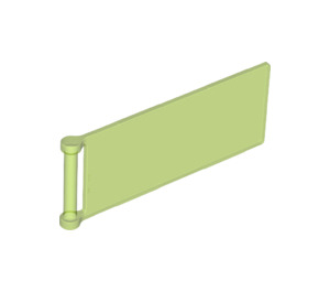 LEGO Transparent Bright Green Flag 7 x 3 with Rod (30292)