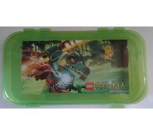 LEGO Transparent Bright Green Legends of Chima Minifigure Storage Case (129543)