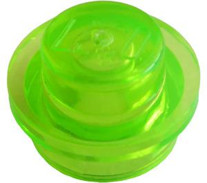 LEGO Transparent Bright Green Plate 1 x 1 Round (30057 / 34823)