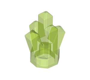 LEGO Transparent Bright Green Rock 1 x 1 with 5 Points (30385)
