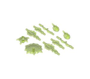 LEGO Transparent Bright Green Set of Power Burst Parts (35032)