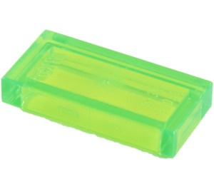LEGO Transparent Bright Green Tile 1 x 2 with Groove (30070 / 35386)