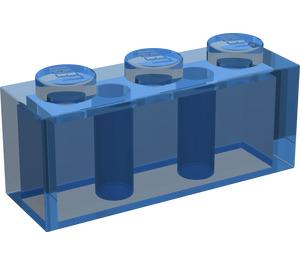 LEGO Transparent Dark Blue Brick 1 x 3 (3622)