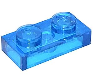 LEGO Transparent Dark Blue Plate 1 x 2 (3023 / 28653)