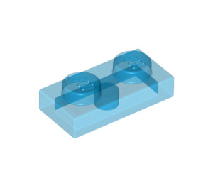 LEGO Transparent Dark Blue Plate 1 x 2 (3023 / 6225 / 28653)