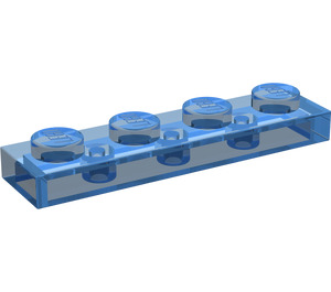 LEGO Transparent Dark Blue Plate 1 x 4 (3710)