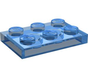 LEGO Transparent Dark Blue Plate 2 x 3 (3021)