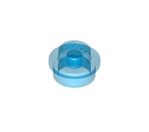 LEGO Transparent Dark Blue Round Plate 1 x 1 (6141 / 30057 / 34823)