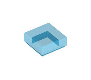 LEGO Transparent Dark Blue Tile 1 x 1 with Groove (30039)