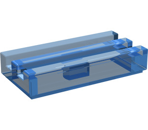 LEGO Transparent Dark Blue Tile 1 x 2 Grille (with Bottom Groove) (2412)