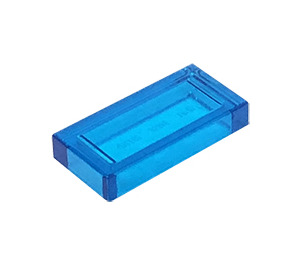 LEGO Transparent Dark Blue Tile 1 x 2 with Groove (30070 / 35386)