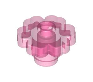 LEGO Transparent Dark Pink Flower 2 x 2 with Open Stud (30657)