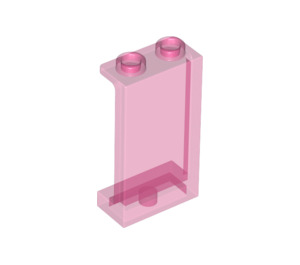 LEGO Transparent Dark Pink Panel 1 x 2 x 3 with Side Supports - Hollow Studs (35340 / 74968)