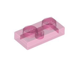 LEGO Transparent Dark Pink Plate 1 x 2 (6225 / 28653)