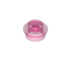 LEGO Transparent Dark Pink Round Plate 1 x 1 (30057 / 34823)