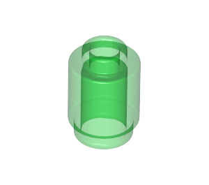 LEGO Transparent Green Brick Round 1 x 1 with Open Stud (3062 / 30068 / 35390)
