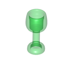 LEGO Transparent Green Curved Glass with Stem (33061)