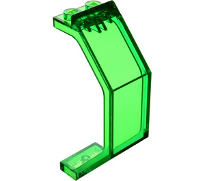 LEGO Transparent Green Panel 3 x 2 x 6