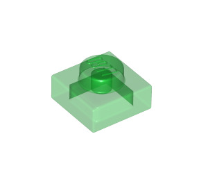 LEGO Transparent Green Plate 1 x 1 (3024 / 28554 / 30008)