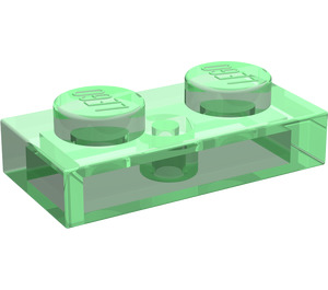 LEGO Transparent Green Plate 1 x 2 (3023 / 6225)