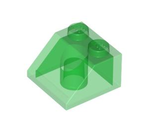 LEGO Transparent Green Slope 45° 2 x 2 (6227)