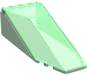 LEGO Transparent Green Windscreen 10 x 4 x 2 & 1/3 Canopy (2507)