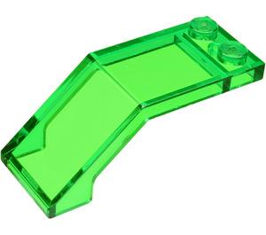 LEGO Transparent Green Windscreen 5 x 2 x 1 & 2/3 (6070)