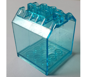LEGO Transparent Light Blue Box 4 x 4 x 4 (30639)